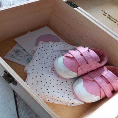 Baby girl keepsake box inside