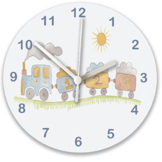 baby train clock for nursery.