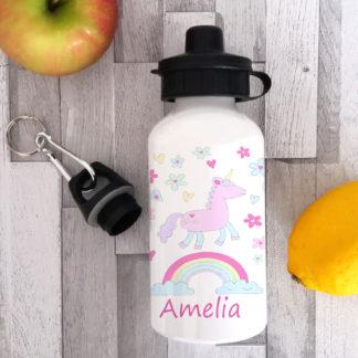 unicorn personalised water bottle