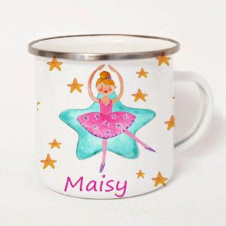 girls camping mug
