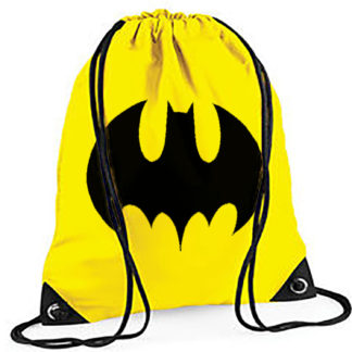 batman marvel drawstring bag