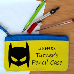 boys super hero pencil case