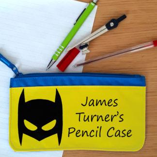 boys super hero pencil case