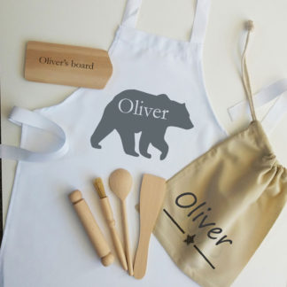 personalised bear apron