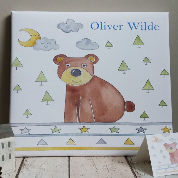 personalised baby canvas picture