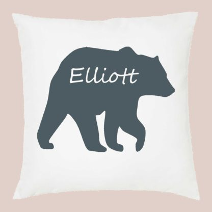 Bear personalised cushion