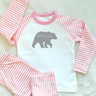 personalised bear pyjamas