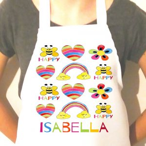girls personalised cooking apron