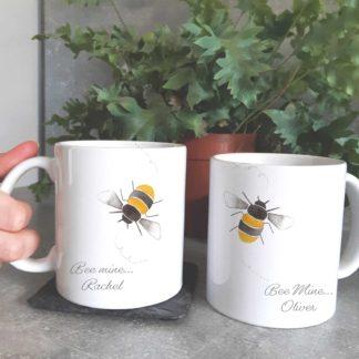 bee mine valventines mugs