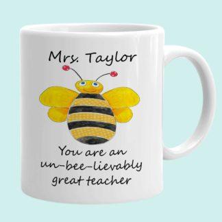 bee teacher mug