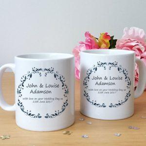 personalised wedding mug set gift