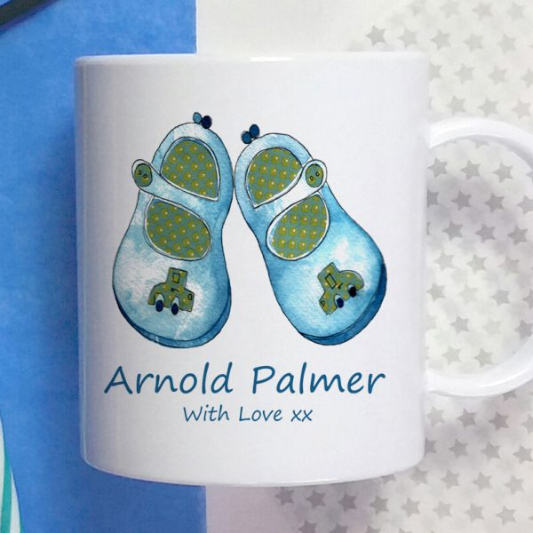 blue shoes personalised cup