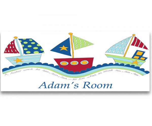 boys nursery room sign