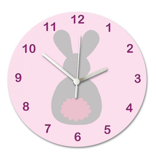 baby personalised silent clock