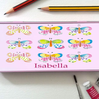 girls pencil tin