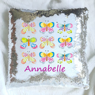 Butterfly Sequin Cushion