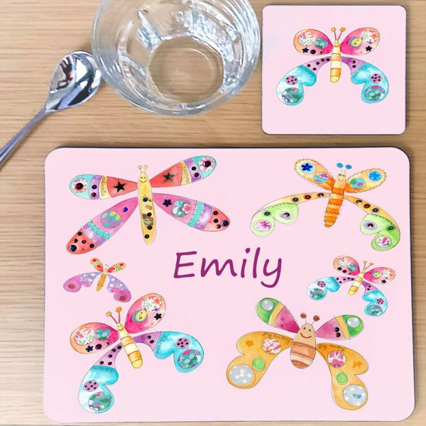 girls personalised table mats