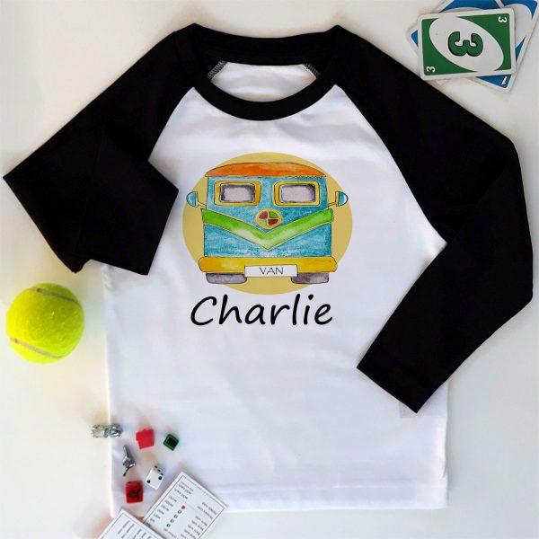 boys personalised long sleeved T Shirt