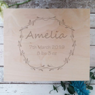 wooden christening box