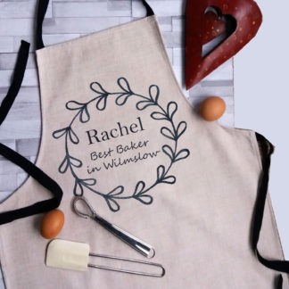 Personalised Linen Best BakeerApron