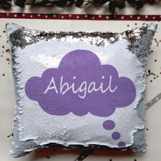 cloud sequin cushion