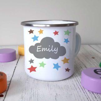 cloud camping mug