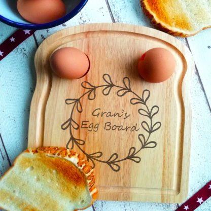 circle leaf egg board