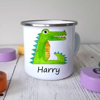 crocodile-camping-mug