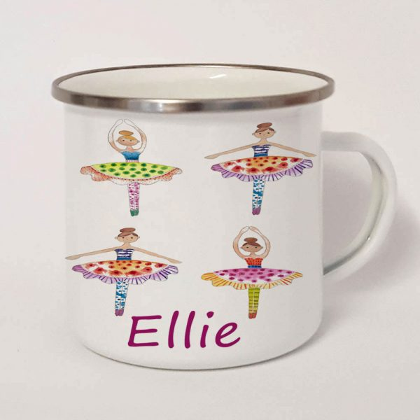 personalised enamel girls cup