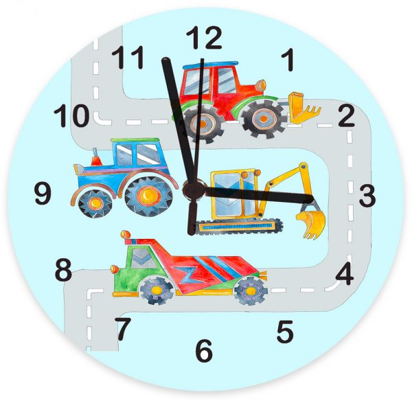 personalised digger clock
