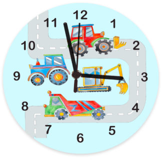 digger personalised clock