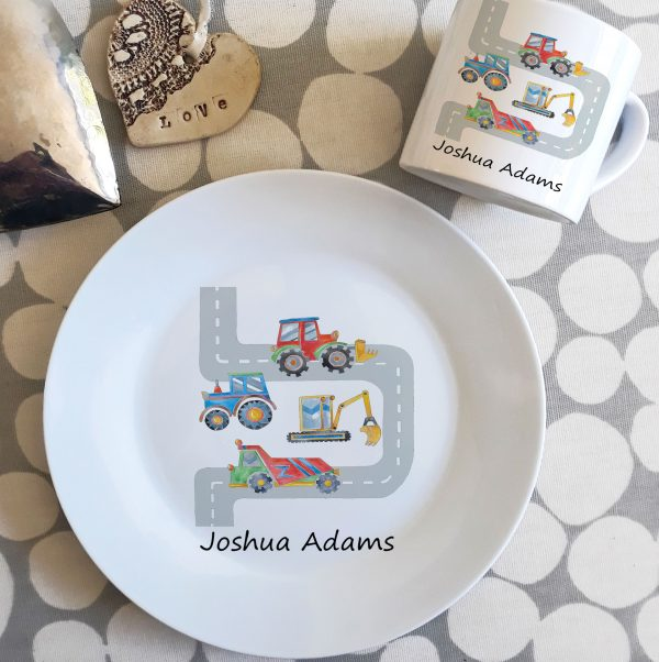 boys personalised dinner set