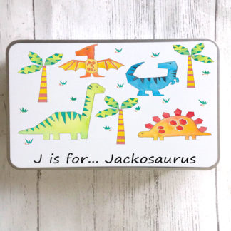 Dinosaur Personalised Tin