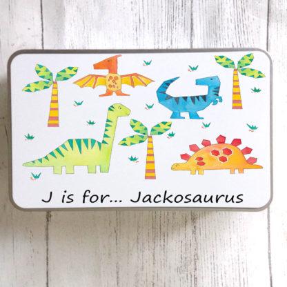 Dinosaur Personalised Tin