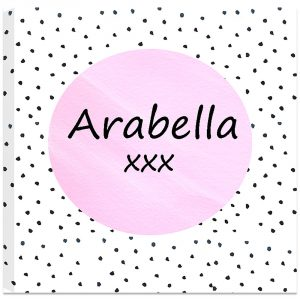 Girls Personalised Canvas Art