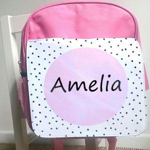 girls personalised ruck sack