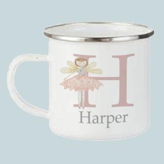 Fairy Initial Camping Mug