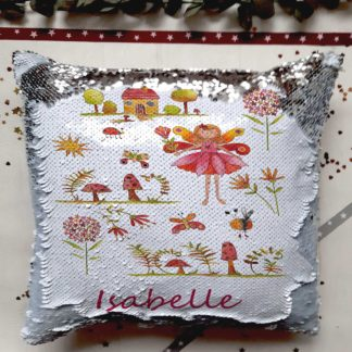 Fairy Sequin personalised cushion