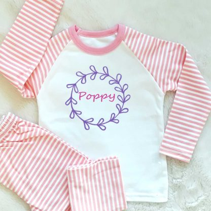 personalised girls pyjamas
