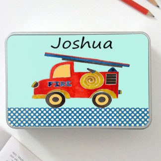 Boys personalised tins