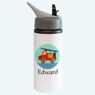 Fire Engine Bottle with straw