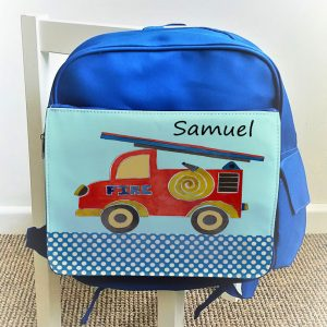 kids blue ruck sack