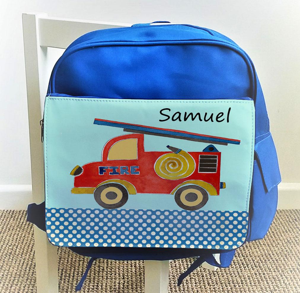 kids blue ruck sack