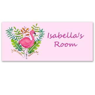 Flamingo Door Sign