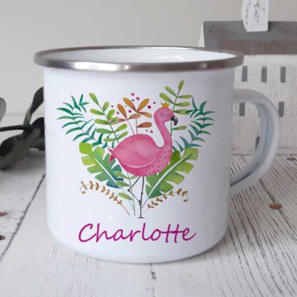 flamingo-pink-enamel-cup