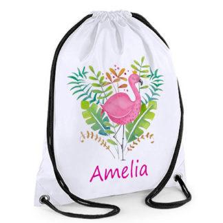 Pink Flamingo Swim Bag