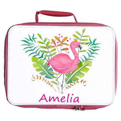 Pink flamingo lunch bag