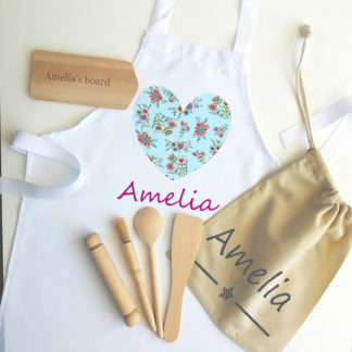 heart apron set