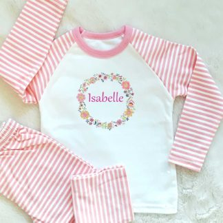 girls personalised pyjamas
