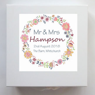 personalised wedding day keepsake box